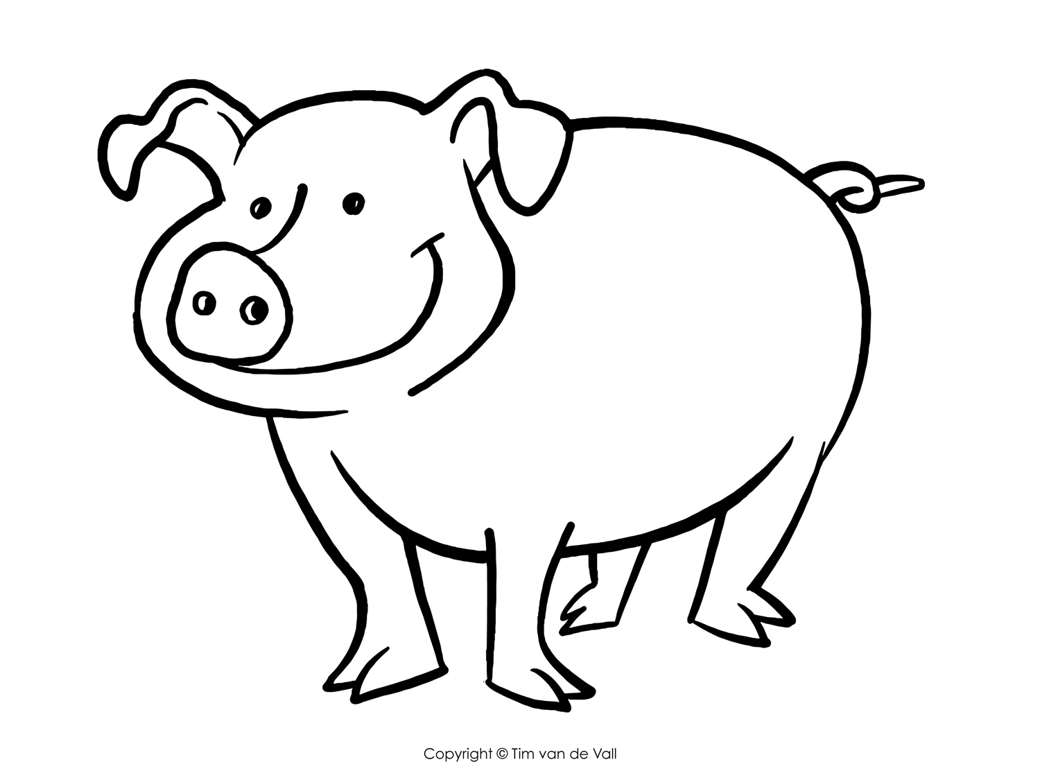 coloring page of pig pig coloring pages getcoloringpagescom page pig of coloring