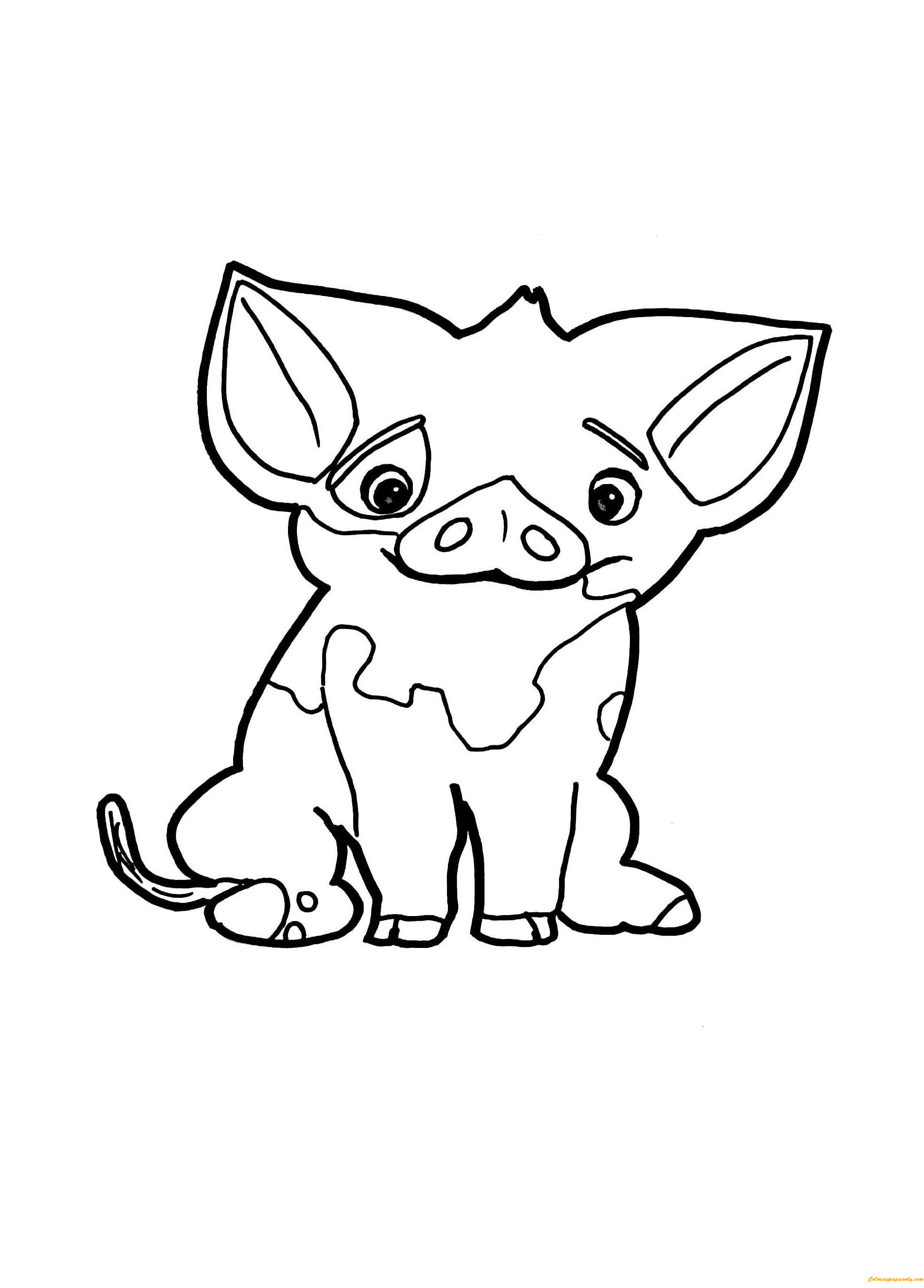coloring page of pig pua pig from moana coloring page free coloring pages online coloring page pig of