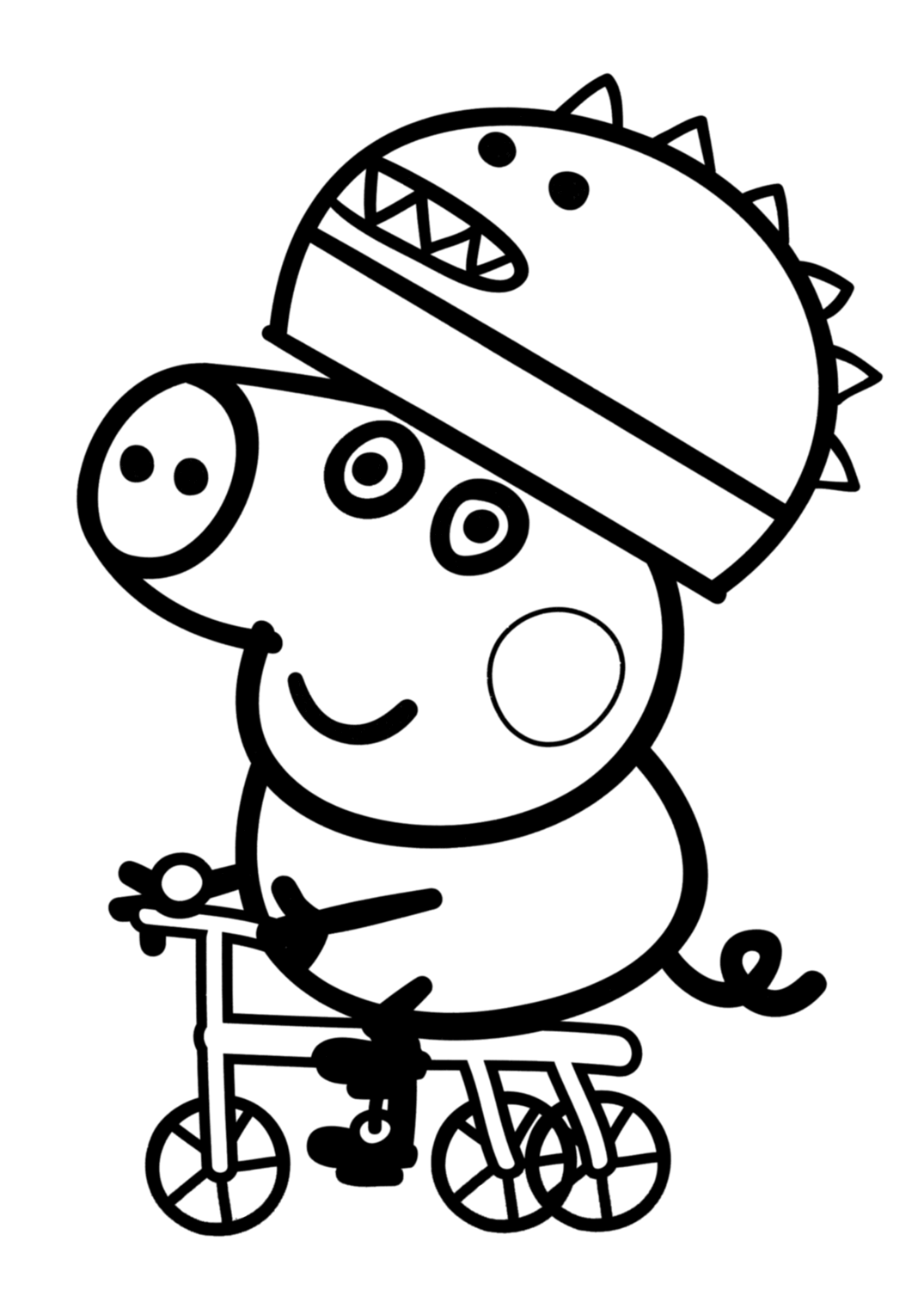 coloring page of pig three little pigs coloring pages for preschool learning of pig coloring page