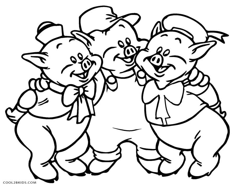 coloring page of pig three little pigs coloring pages the three little pigs story coloring of page pig