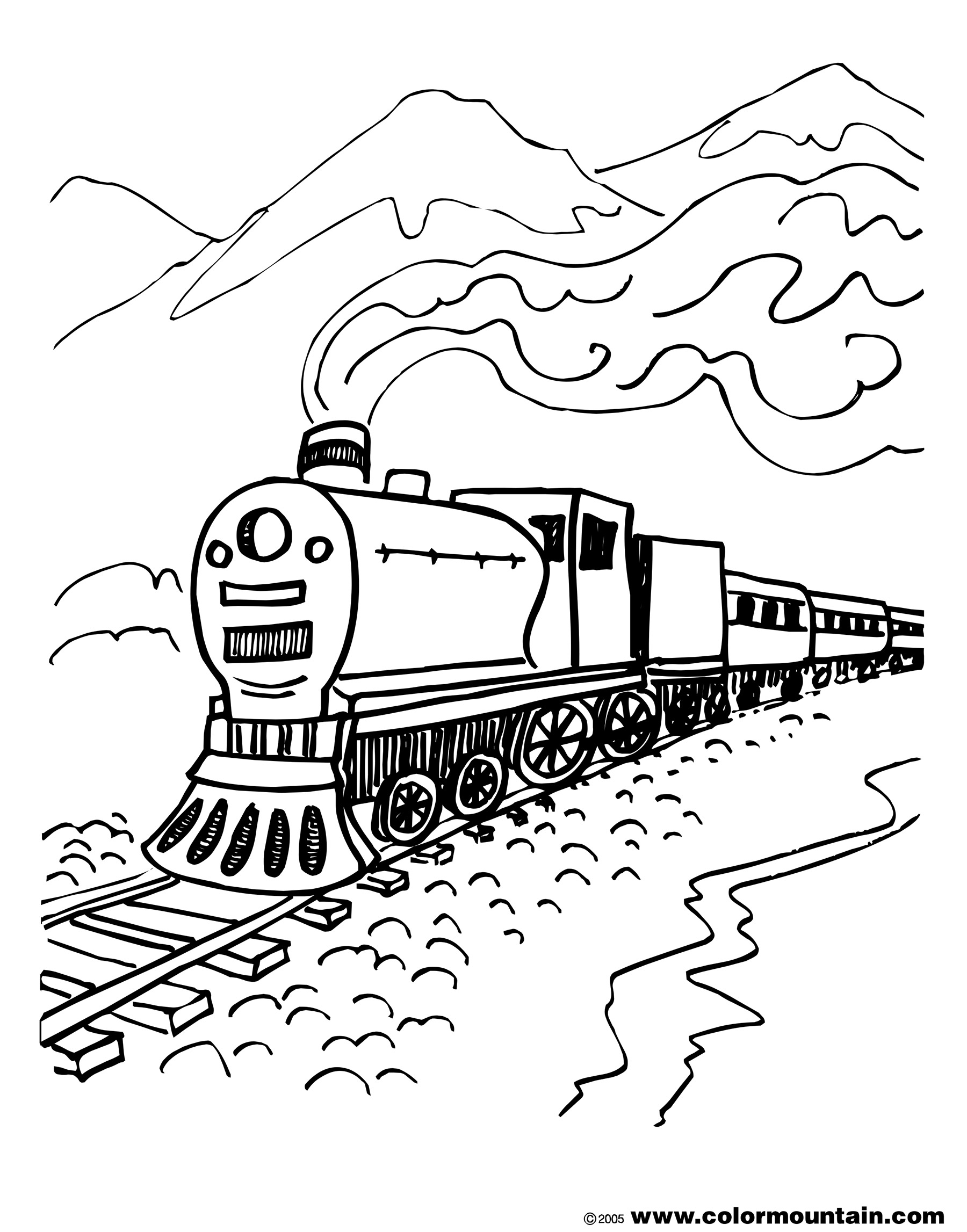 coloring page of train engine steam locomotive coloring page clrg coloring train page engine of
