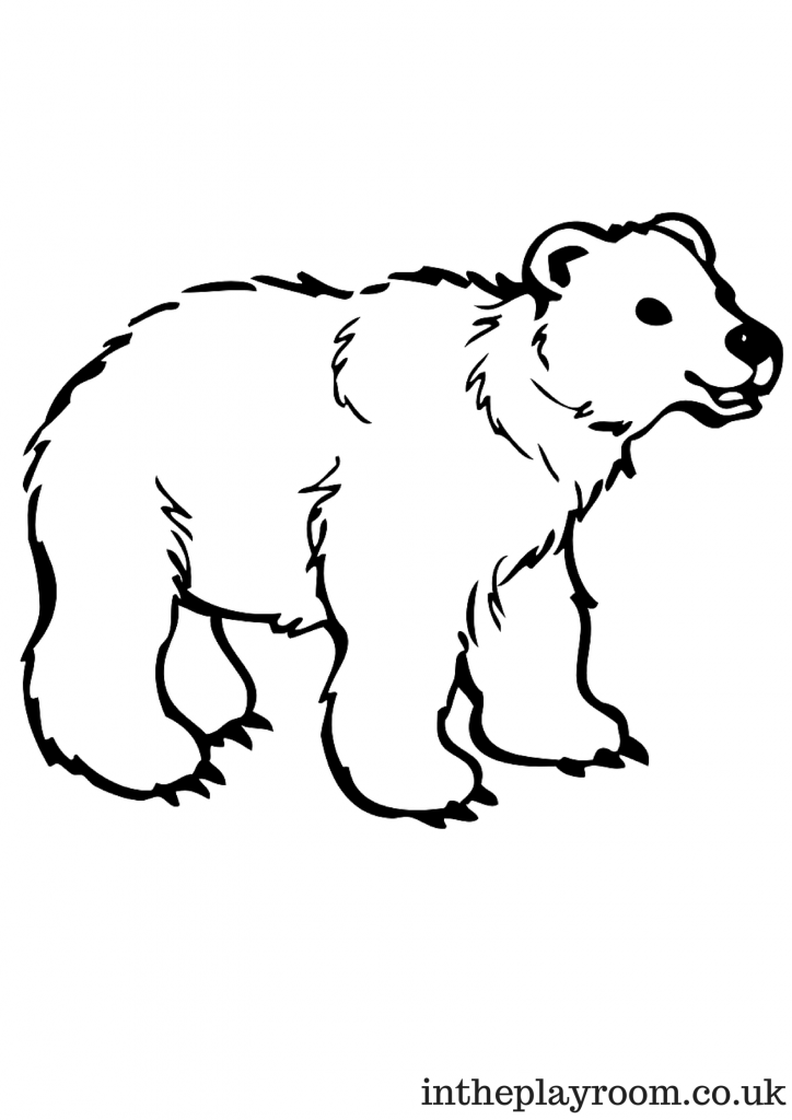 coloring page polar bear coloring pages mother polar bear with her cute baby stock bear page coloring polar