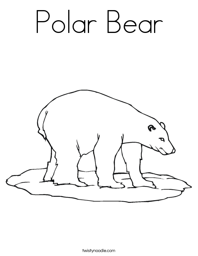 coloring page polar bear polar bear coloring page twisty noodle polar coloring page bear