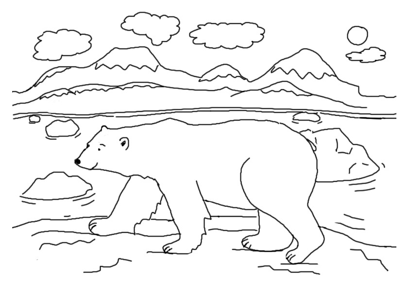 coloring page polar bear polar bear coloring pages to download and print for free bear coloring polar page