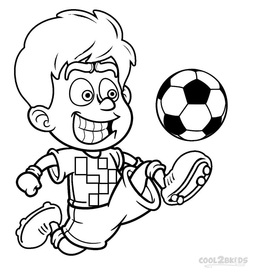 coloring page soccer printable football player coloring pages for kids cool2bkids page coloring soccer