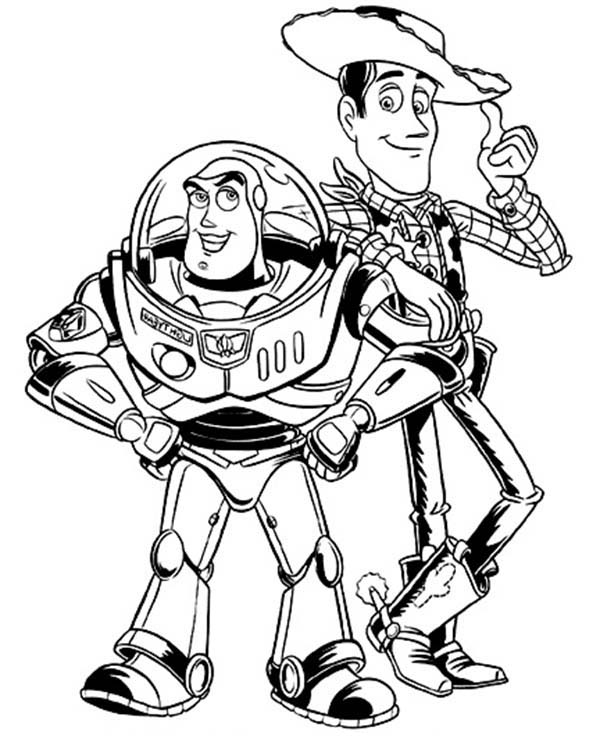 coloring page toy story buzz lightyear and woddy in toy story coloring page toy story page coloring