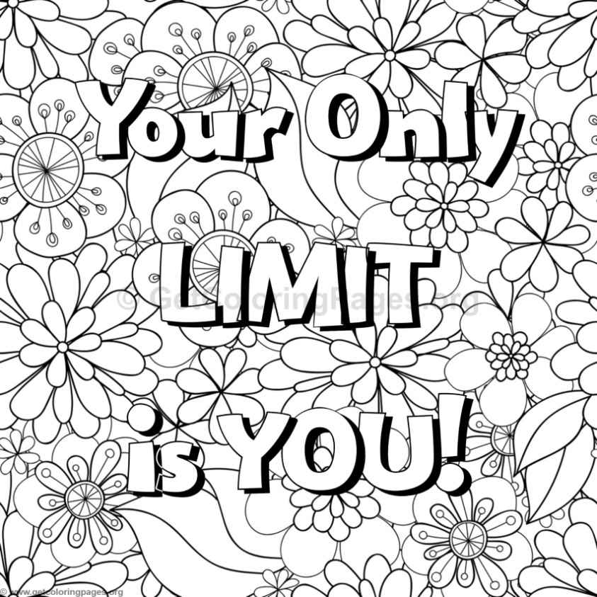 coloring page words positive word coloring page calm positive adult coloring words page coloring