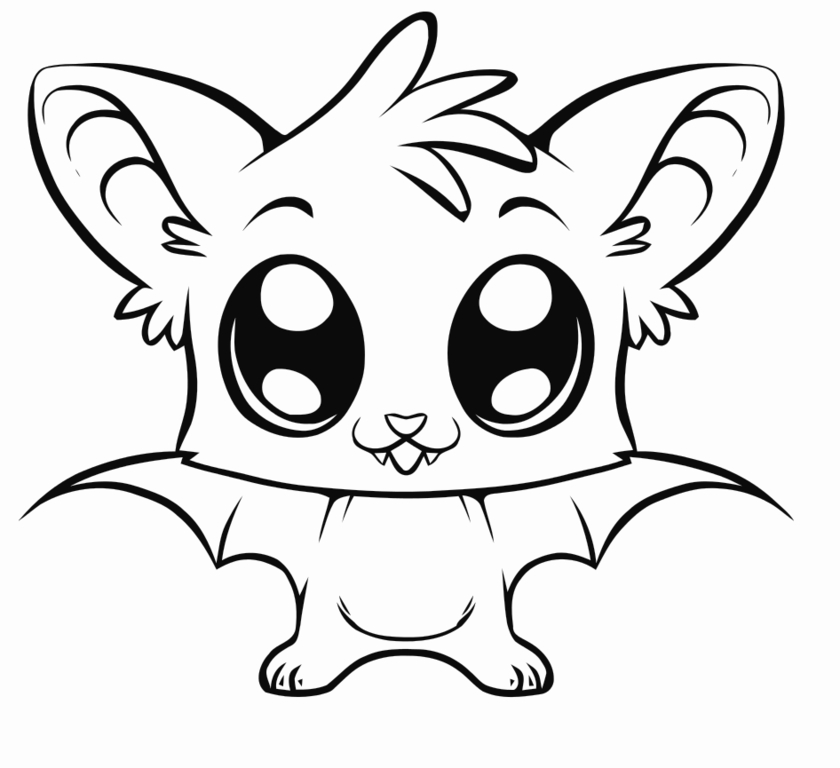 Coloring pages anime animals