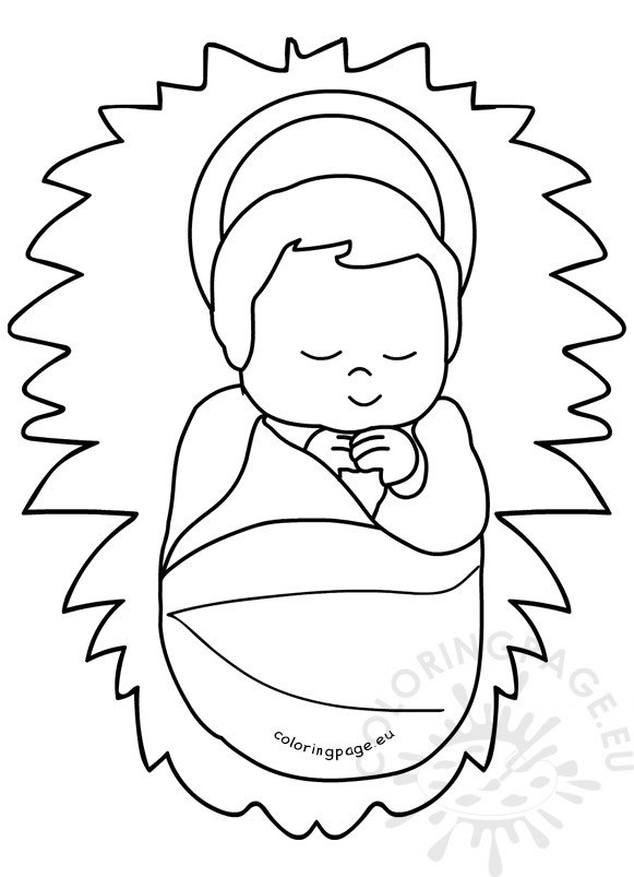 coloring pages baby jesus in manger baby jesus coloring pages best coloring pages for kids in pages baby manger jesus coloring