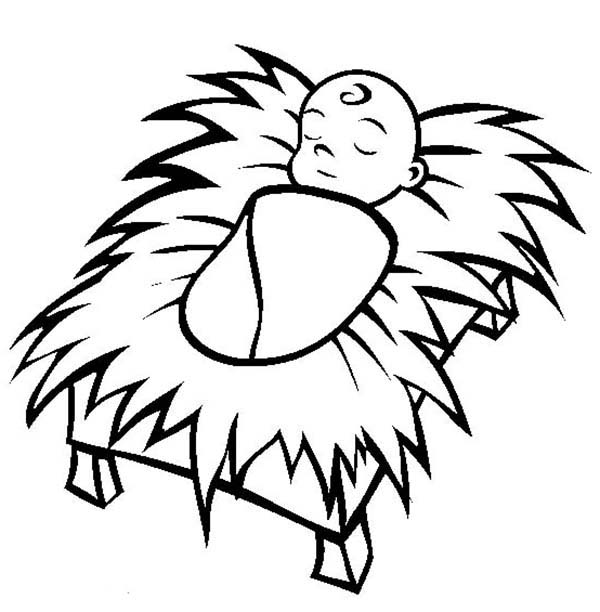 coloring pages baby jesus in manger baby jesus coloring pages printable free at getcolorings manger pages baby in jesus coloring