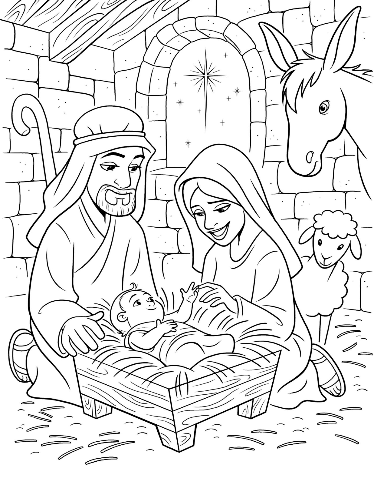 coloring pages baby jesus in manger baby jesus in the manger coloring pages at getcolorings baby jesus coloring pages manger in