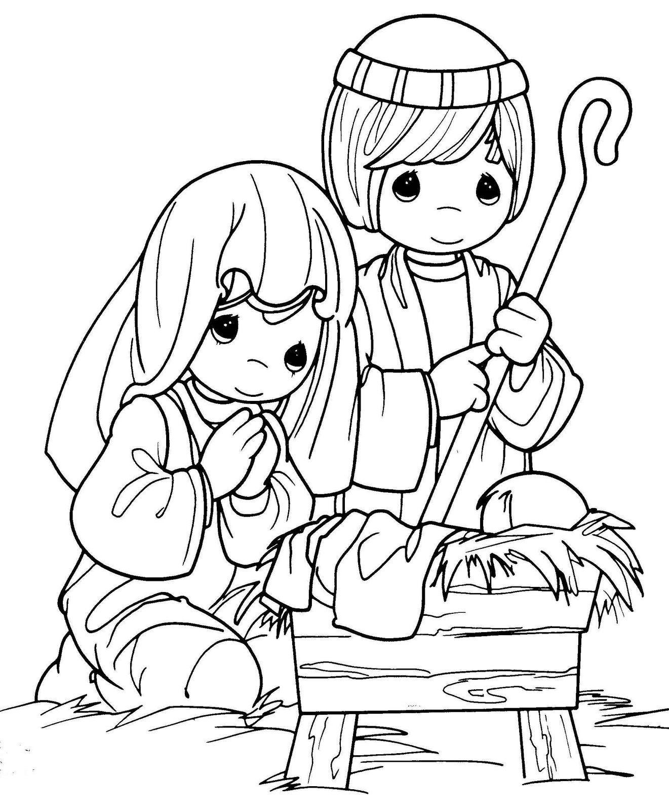 coloring pages baby jesus in manger christmas coloring pages of baby jesus in a manger at manger jesus pages baby coloring in
