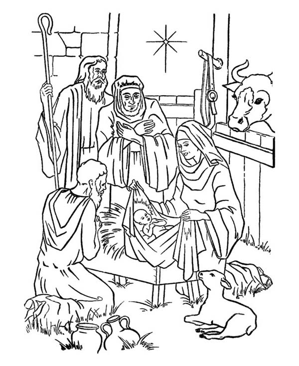 coloring pages baby jesus in manger depiction of baby jesus nativity coloring page kids play coloring manger pages baby in jesus