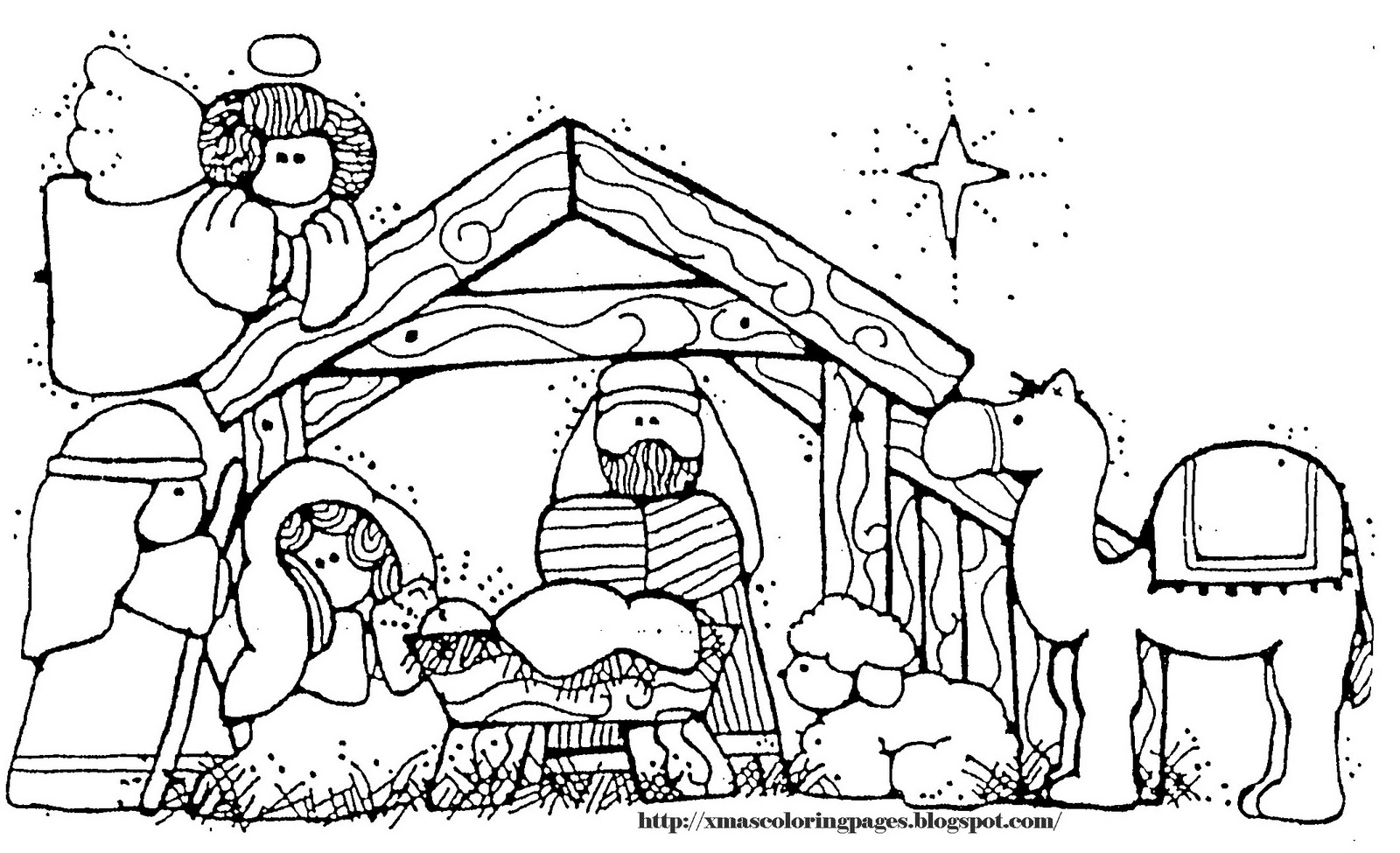 coloring pages baby jesus in manger nativity baby jesus coloring home pages in jesus baby manger coloring