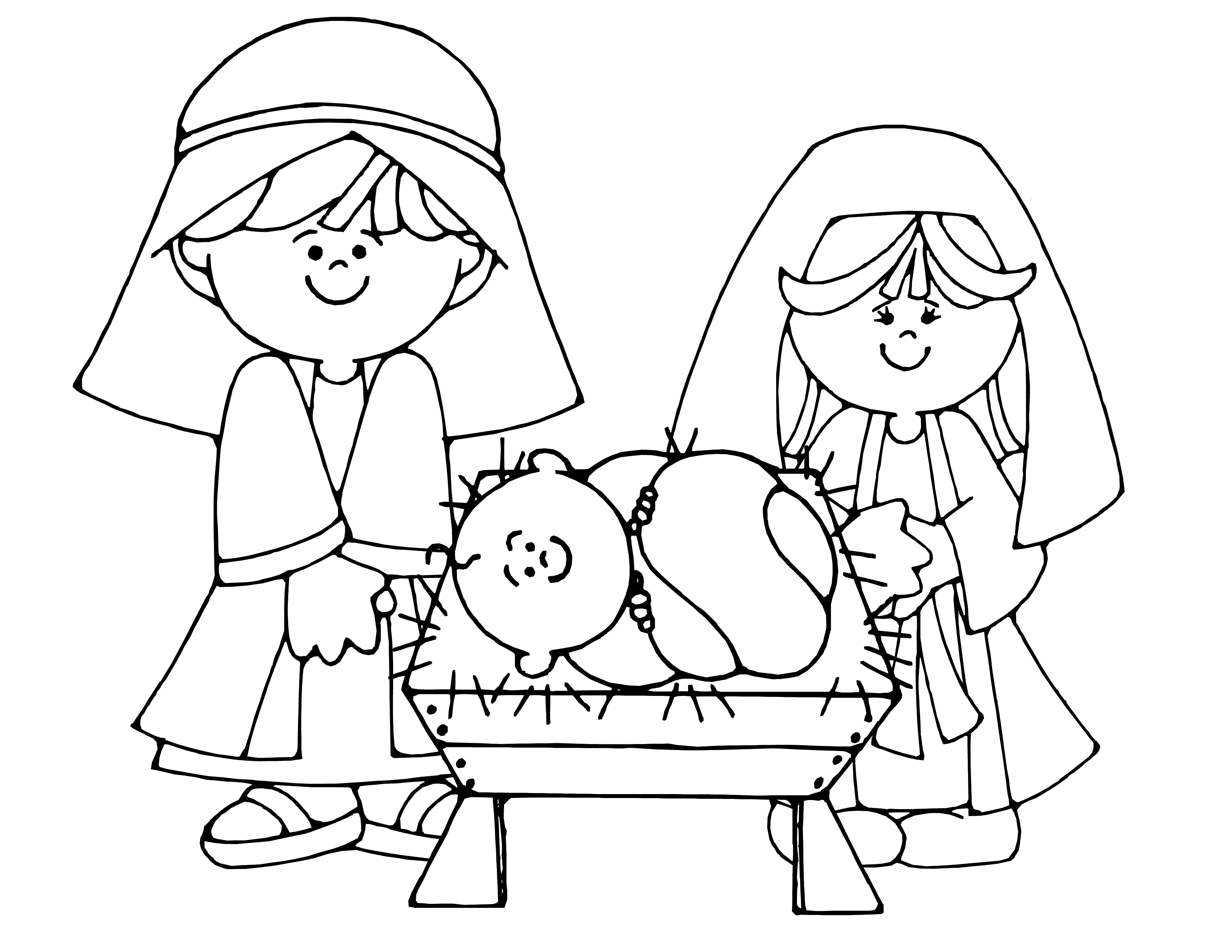coloring pages baby jesus in manger nativity colouring page baby jesus baby coloring pages jesus in manger