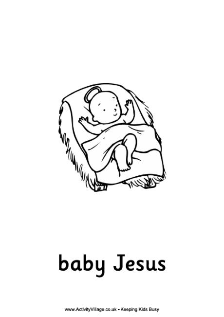 coloring pages baby jesus in manger the birth of christ in coloring pages baby manger jesus
