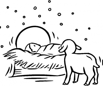 coloring pages baby jesus in manger xmas coloring pages baby pages in manger coloring jesus