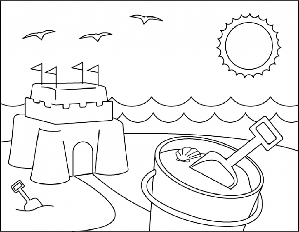 coloring pages beach scenes beach coloring pages beach scenes activities scenes pages beach coloring