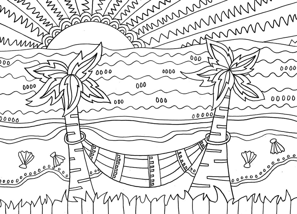 coloring pages beach scenes beach scene coloring pages getcoloringpagescom scenes beach coloring pages