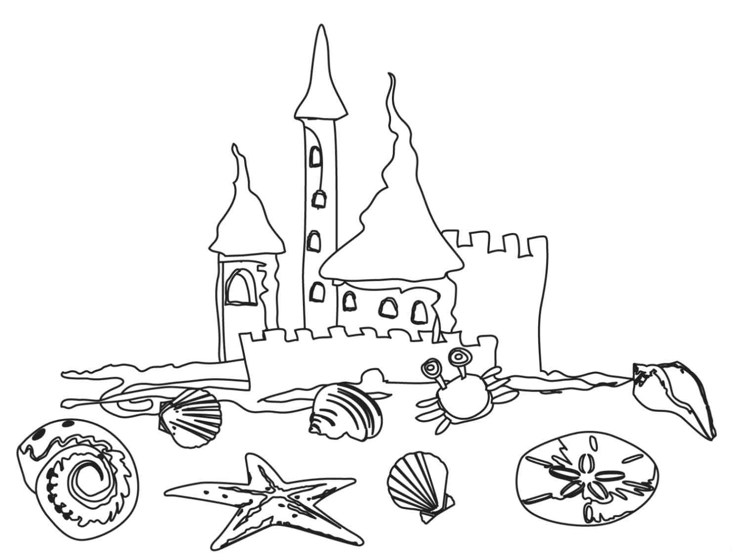 coloring pages beach scenes free printable beach coloring pages for kids beach coloring scenes pages