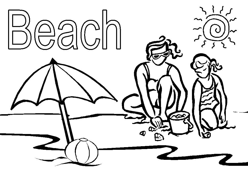 coloring pages beach scenes free printable beach coloring pages for kids coloring scenes beach pages