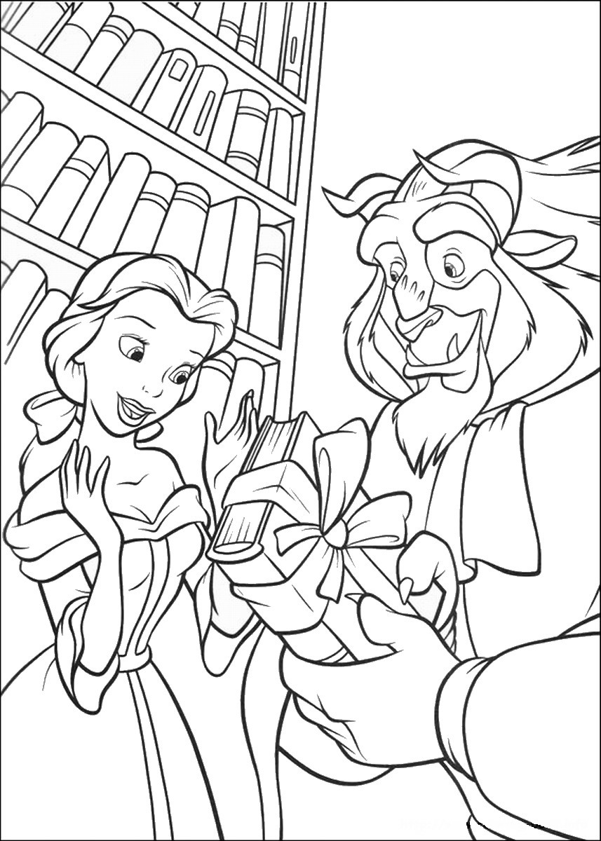 coloring pages beauty and the beast beauty and beast coloring page 15 coloringcolorcom coloring pages beauty beast the and