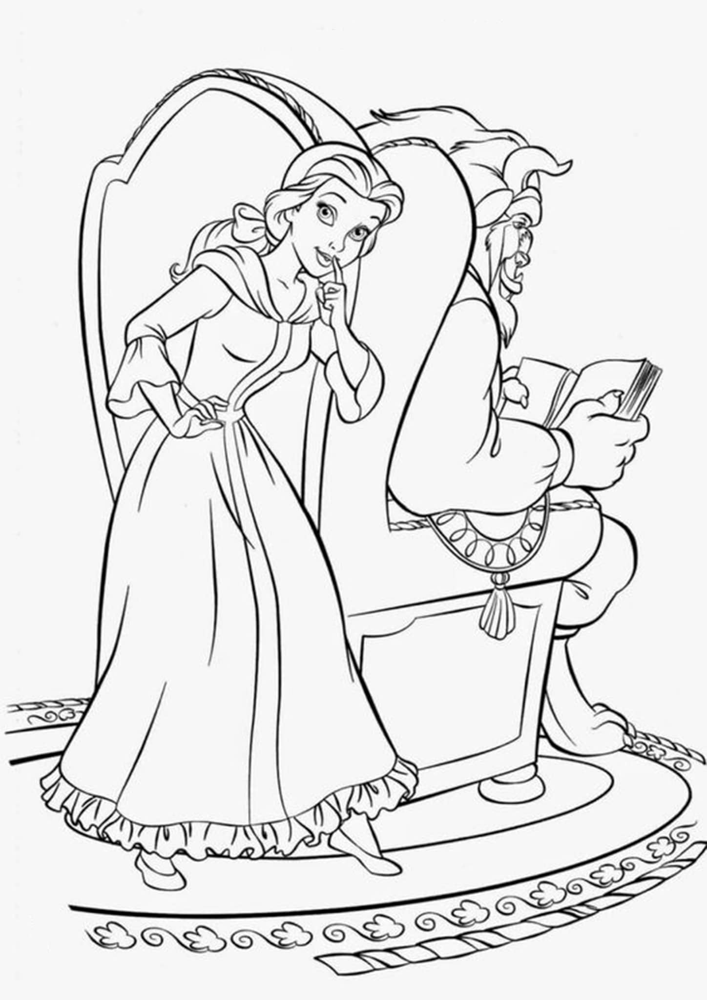coloring pages beauty and the beast beauty and the beast coloring pages beast pages beauty the coloring and