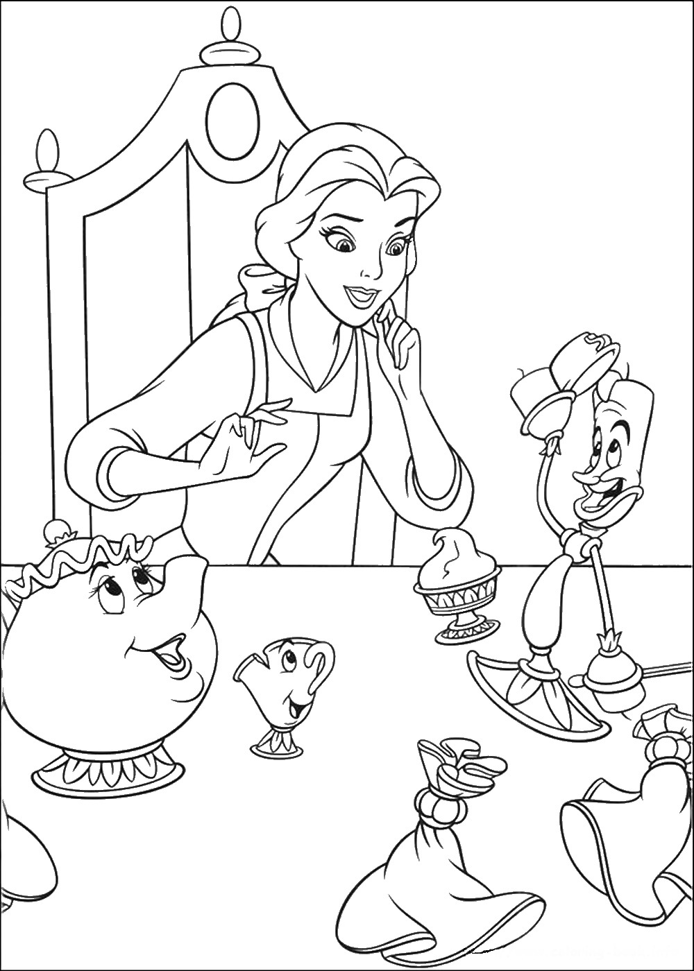 coloring pages beauty and the beast beauty and the beast coloring pages the pages beauty beast and coloring