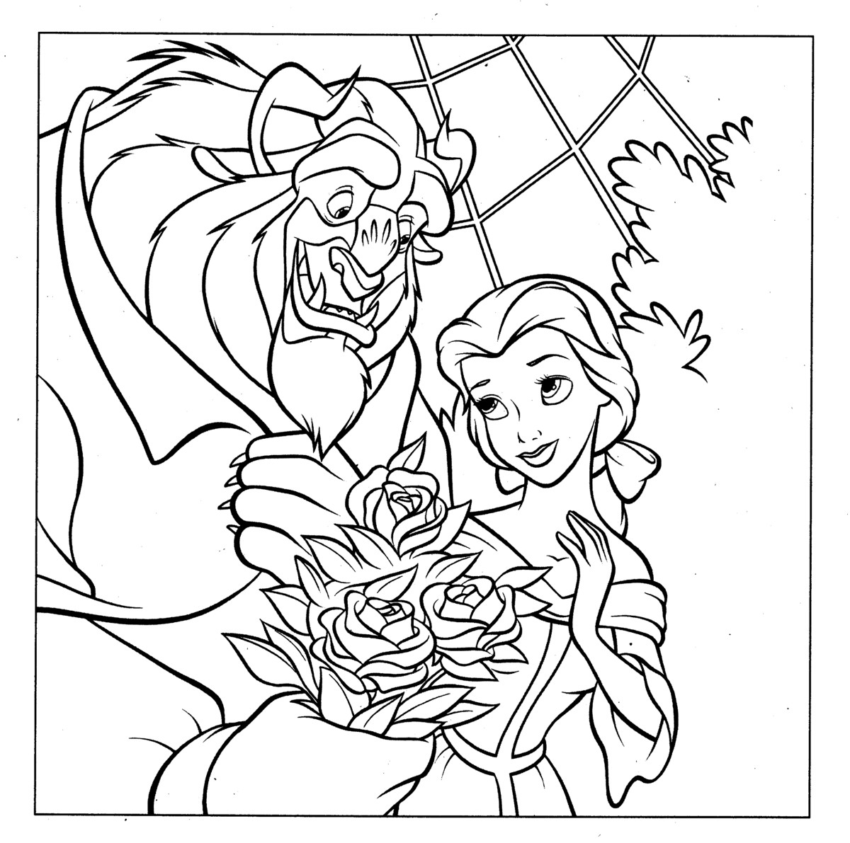 coloring pages beauty and the beast beauty and the beast coloringcolorcom beauty beast the coloring pages and