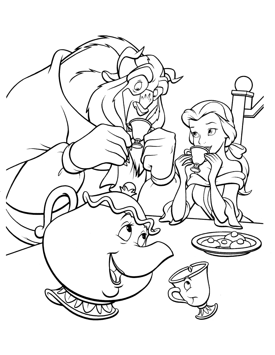 coloring pages beauty and the beast beauty and the beast dancing coloring pages for kids the and beauty beast coloring pages