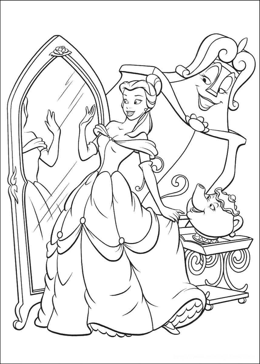 coloring pages beauty and the beast free printable beauty and the beast coloring pages for kids coloring beast the and pages beauty
