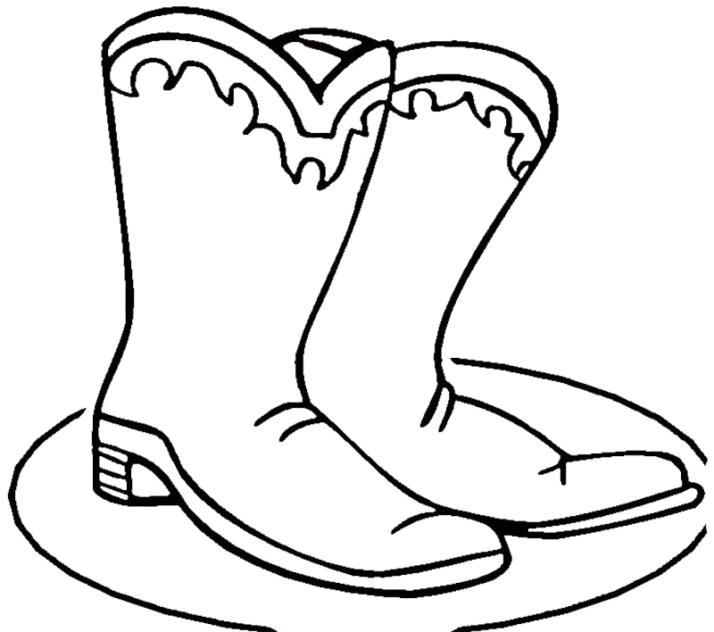 coloring pages boots cowboy boot adult coloring page favecraftscom coloring boots pages