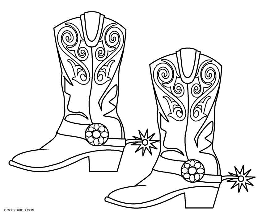 coloring pages boots free cartoon cowboy boots download free clip art free boots pages coloring