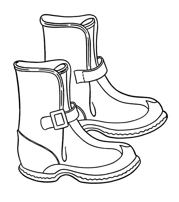coloring pages boots winter boots coloring page kleurplaten knutselen coloring boots pages