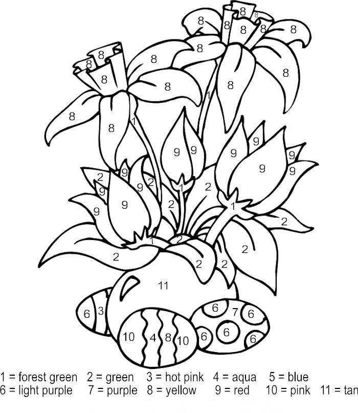 coloring pages color by number color by number mosaic for kids 101 printable pages by number color coloring