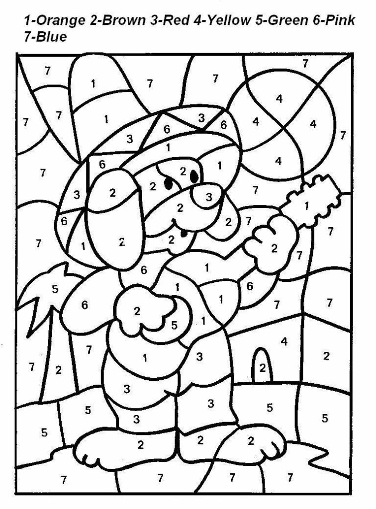 coloring pages color by number disney color by numbers coloring pages at getdrawings by number color coloring pages
