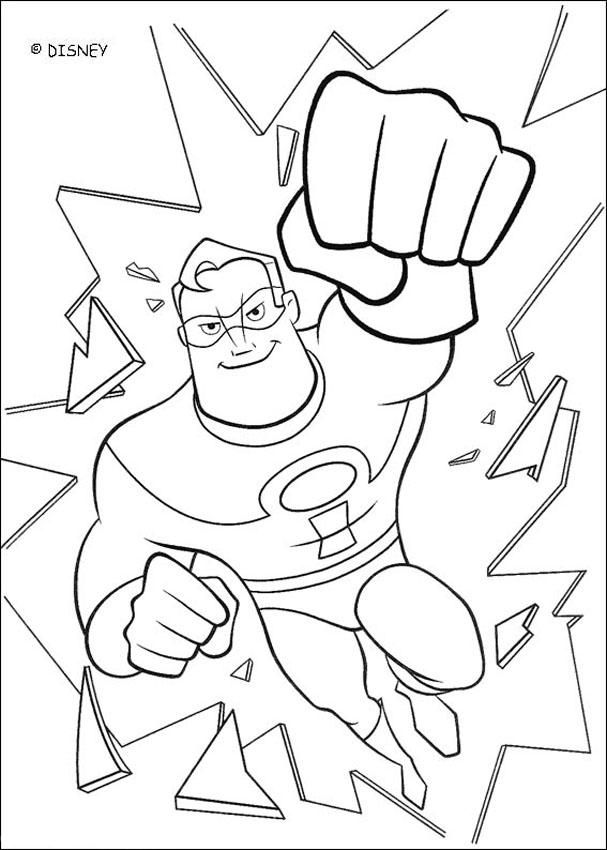 coloring pages disney incredibles a coloring page of the father of the incredibles mr incredibles pages coloring disney