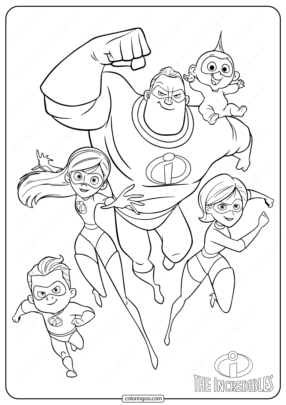 coloring pages disney incredibles disney the incredibles family coloring pages disney incredibles coloring pages