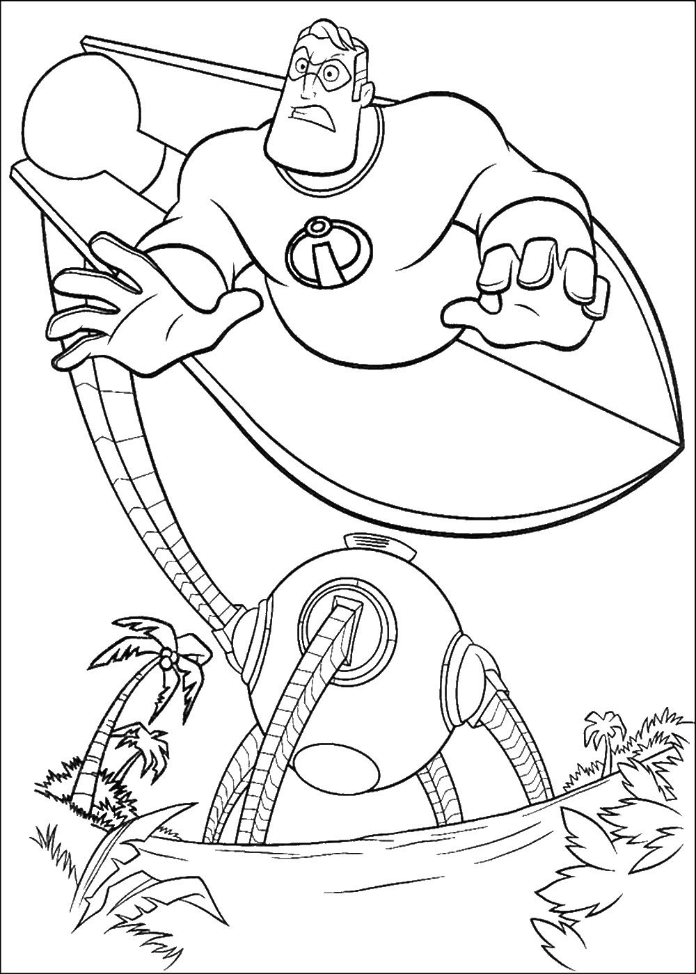 coloring pages disney incredibles the incredibles coloring pages coloring disney incredibles pages
