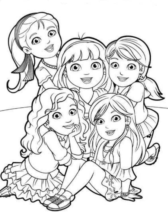 coloring pages dora and friends coloring pages dora and friends bestappsforkidscom coloring and pages friends dora