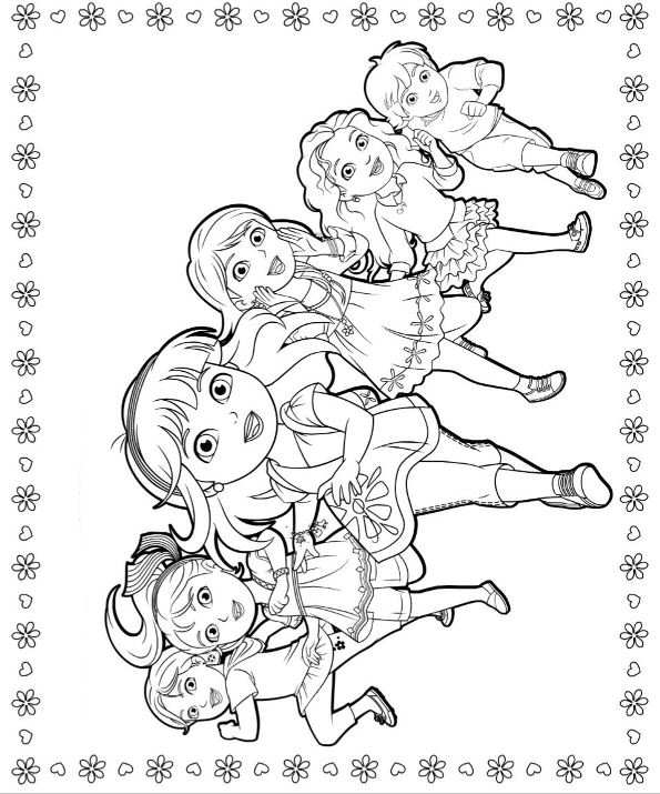 coloring pages dora and friends disegni da colorare dora disegni da colorare gratuiti pages dora coloring and friends