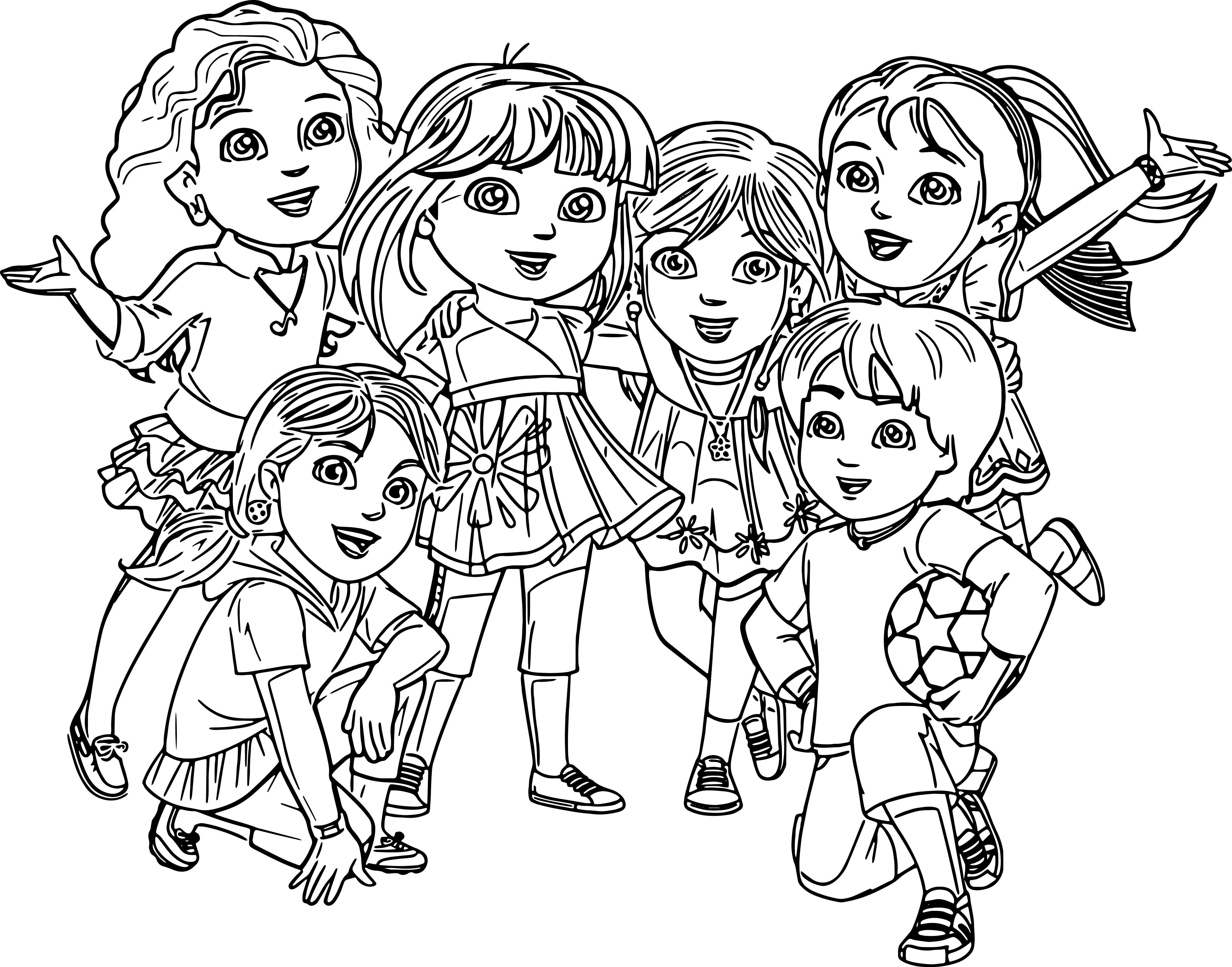 Coloring pages dora and friends