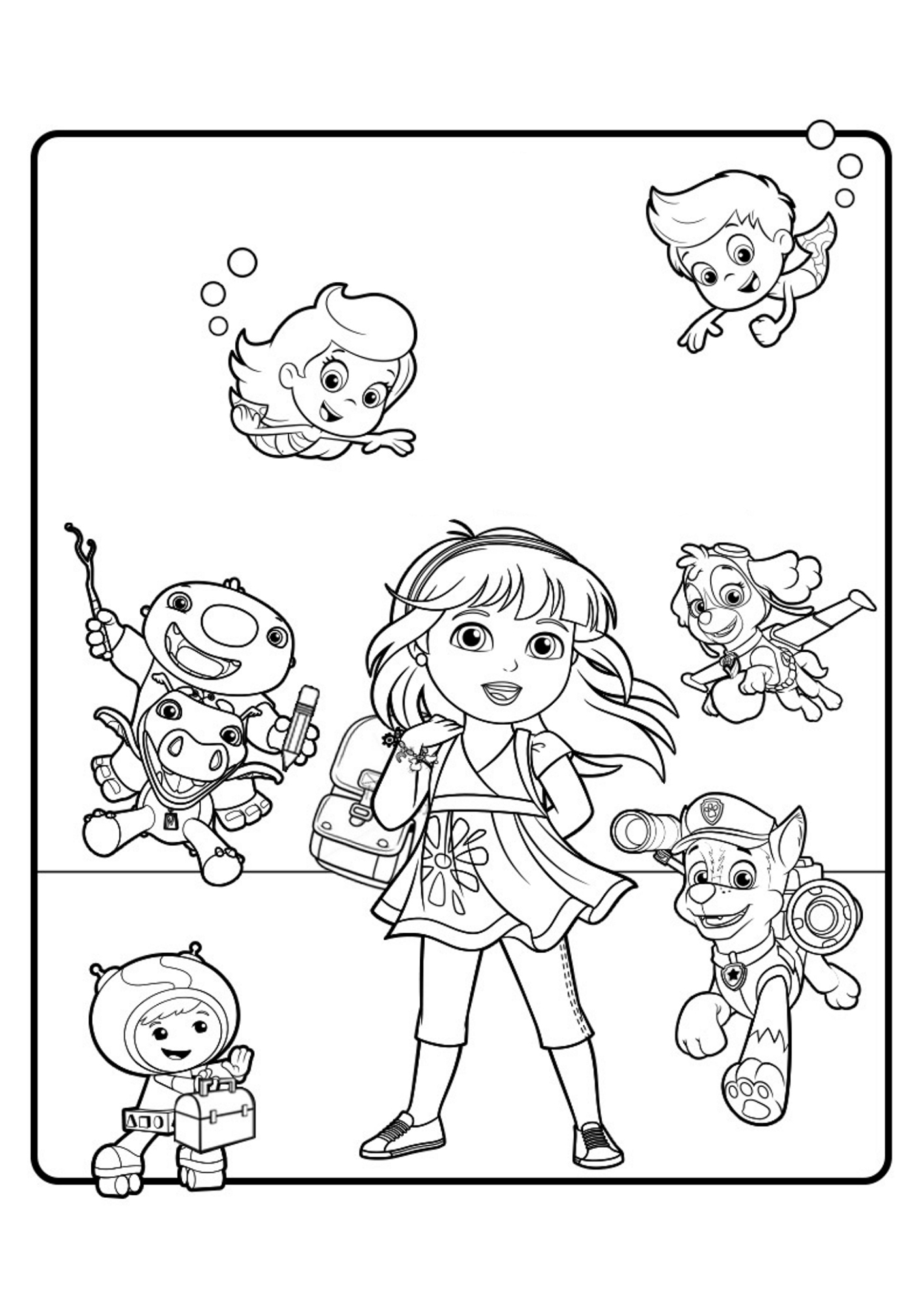 coloring pages dora and friends dora and friends coloring pages to download and print for free and coloring friends dora pages