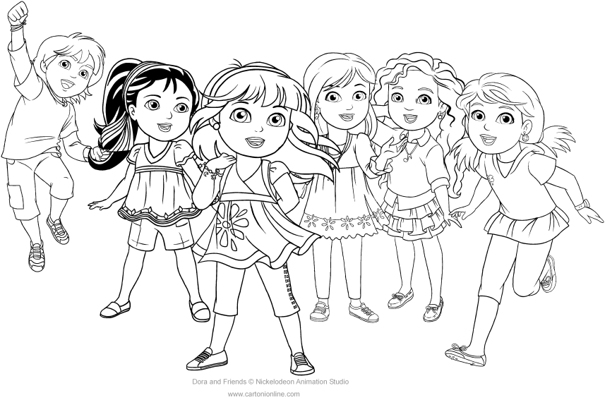 coloring pages dora and friends dora and friends coloring pages to download and print for free coloring and dora pages friends