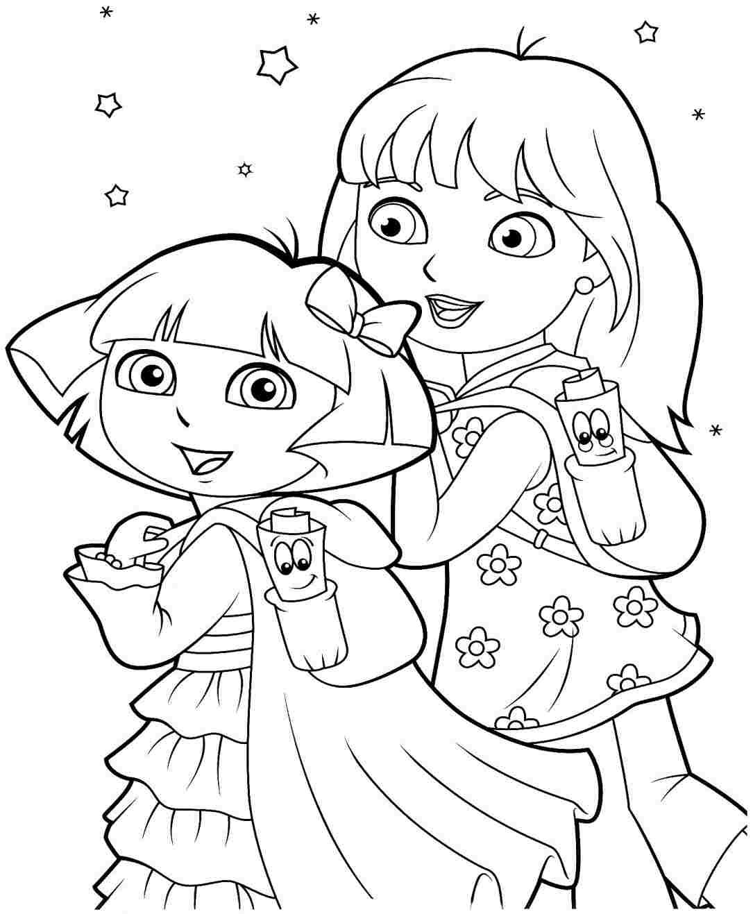 coloring pages dora and friends dora and friends coloring pages to download and print for free coloring pages friends and dora