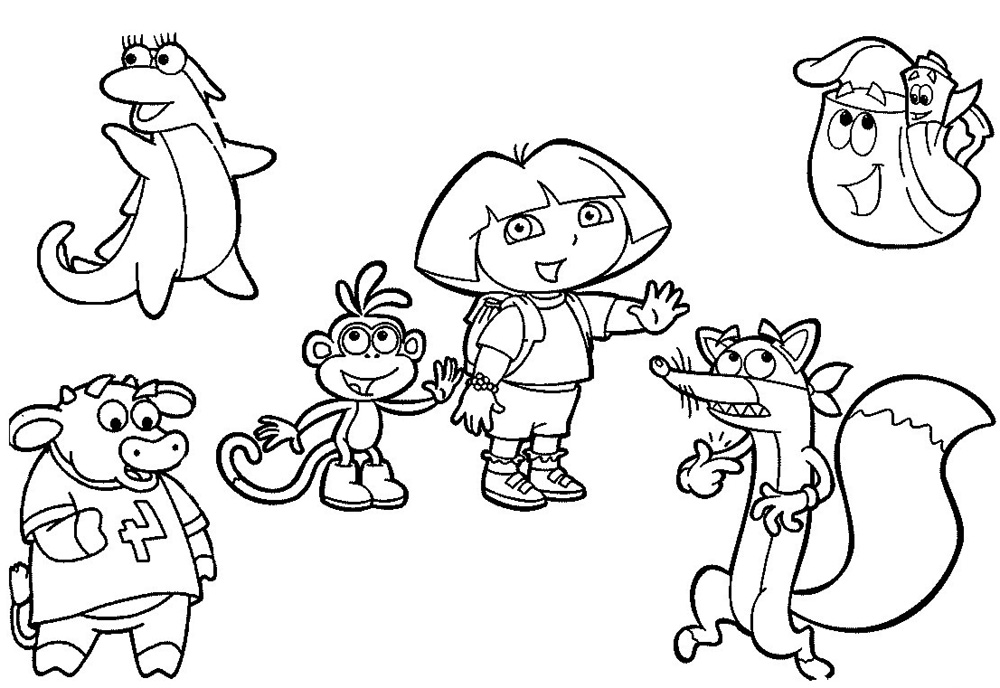 coloring pages dora and friends dora and friends coloring pages to download and print for free friends coloring and dora pages