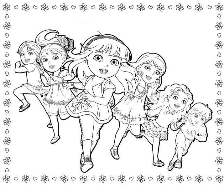 coloring pages dora and friends dora and friends coloring pages to download and print for free pages and friends coloring dora 1 1