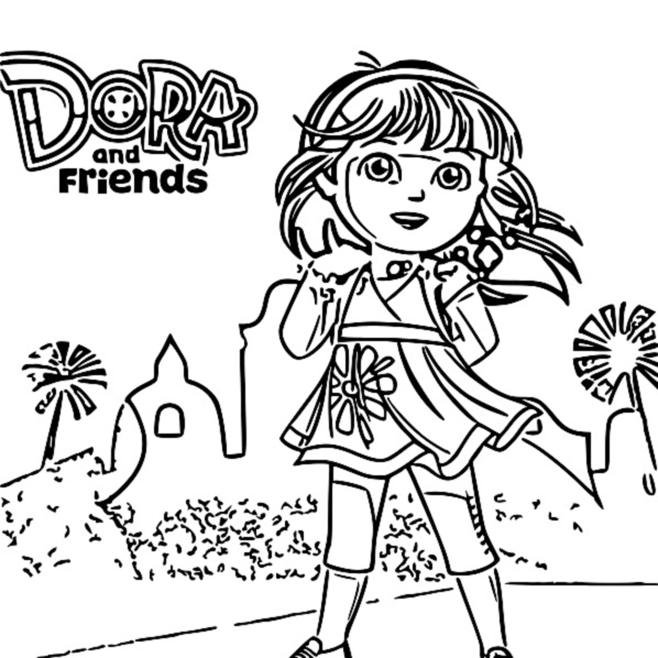 coloring pages dora and friends dora and friends drawing at getdrawings free download and coloring pages dora friends