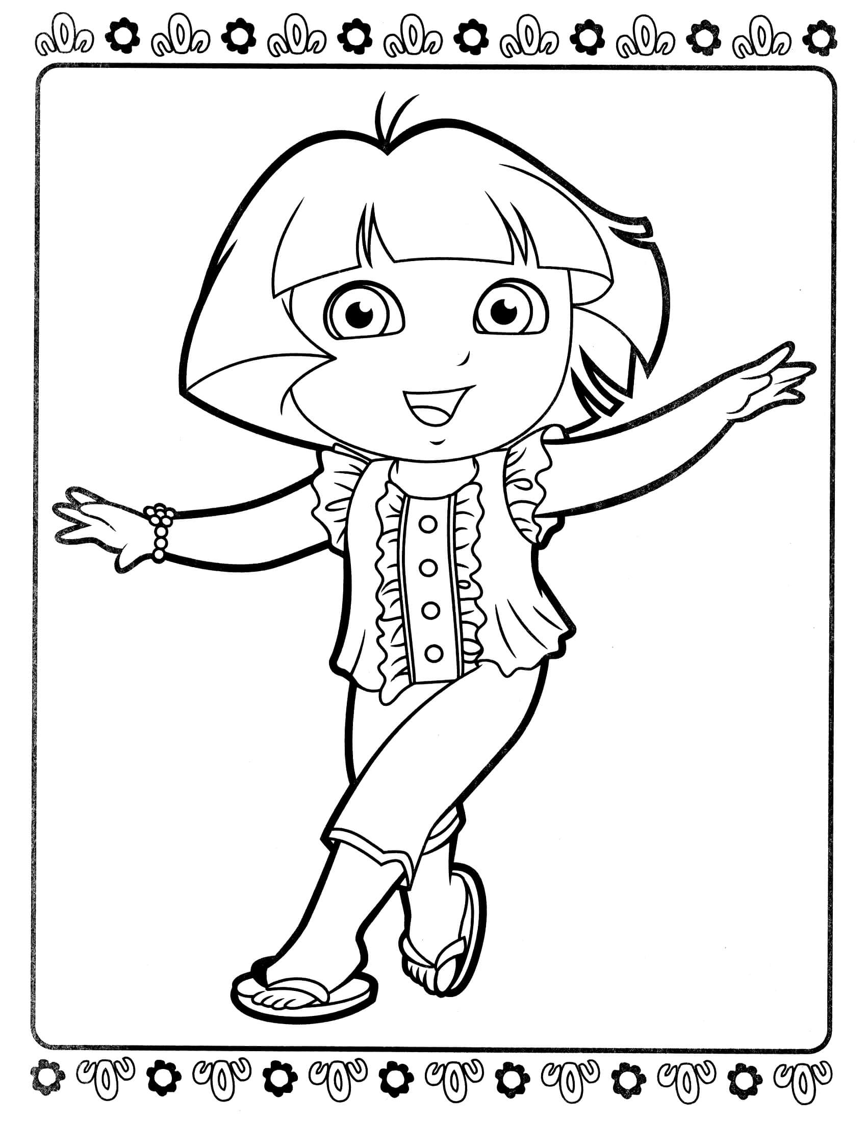 coloring pages dora and friends dora coloring pages backpack diego boots swiper print pages coloring friends dora and