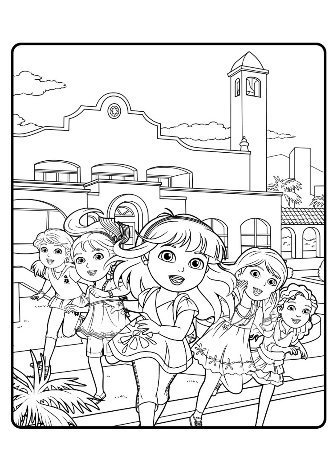 coloring pages dora and friends image cartoon dora the explorer and friends coloring friends coloring dora pages and